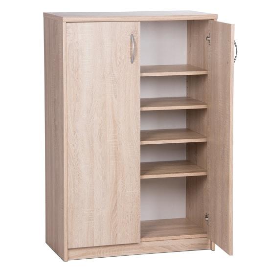 Meissen Shoe Storage Cabinet In Sonoma Oak With 2 Doors