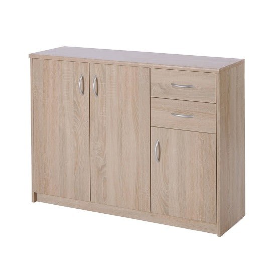 Meissen Sideboard In Sonoma Oak With 3 Doors And 2 Drawers