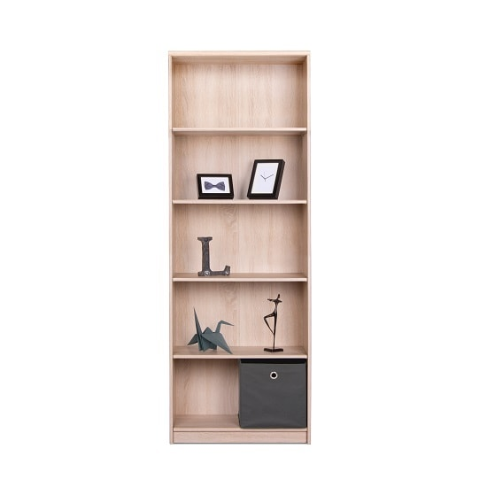 Meissen Shelving Unit Tall In Sonoma Oak With 5 Shelves