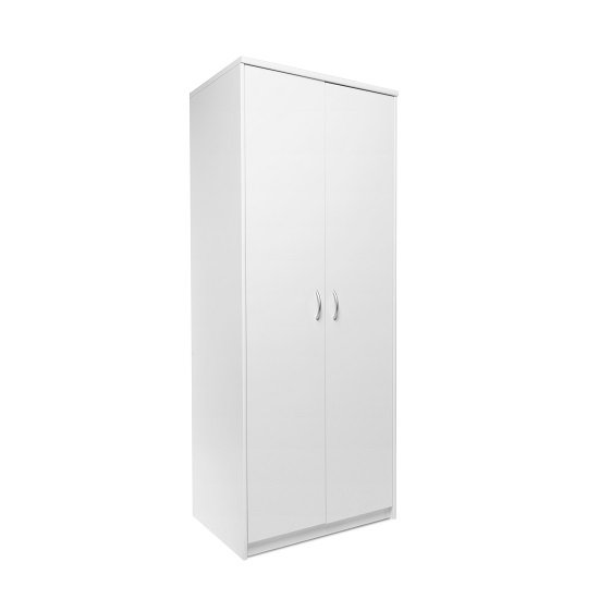 Meissen Wooden Wardrobe In White With 2 Doors