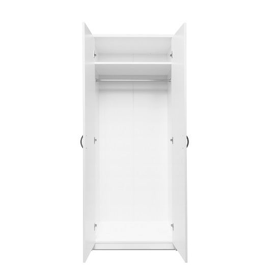 Meissen Wooden Wardrobe In White With 2 Doors_3