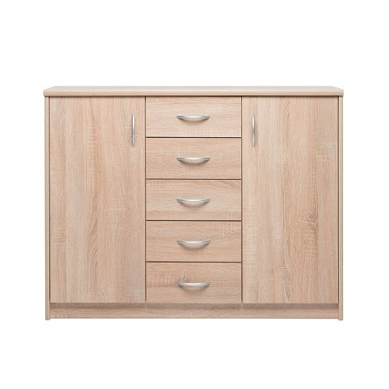 Meissen Sideboard In Sonoma Oak With 2 Doors And 5 Drawers