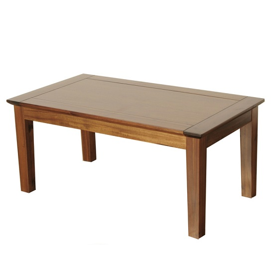 Melania Wooden Coffee Table Rectangular In Solid Acacia