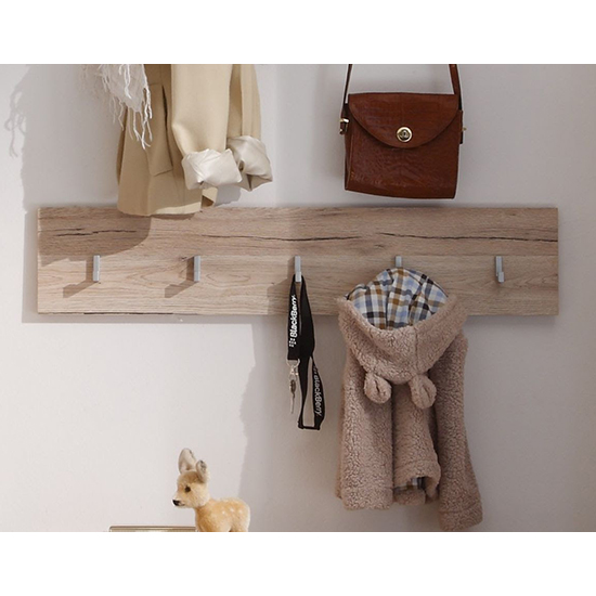 Melay Wooden Coat Rack In San Remo Light Oak