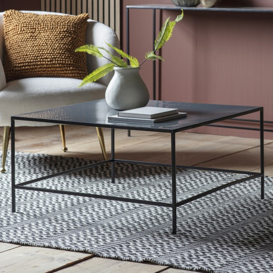 Melliya Wooden Coffee Table In Dark Grey