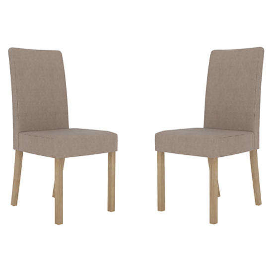 Melodie Beige Dining Chairs In Pair