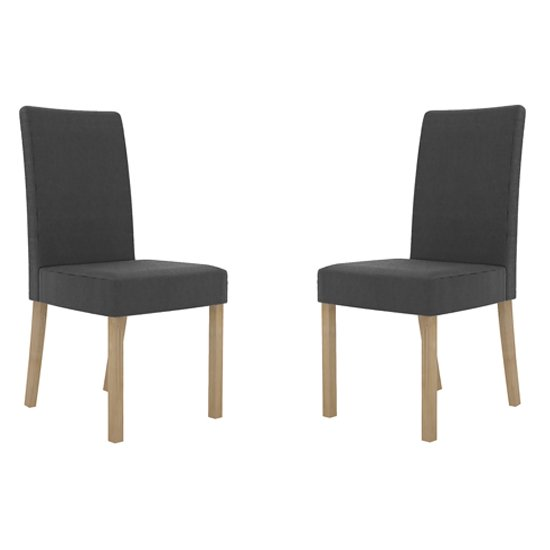 Melodie Charcoal Dining Chairs In Pair