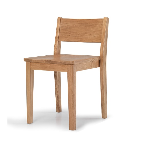 Melton Wooden Dining Chair In Natural Oak