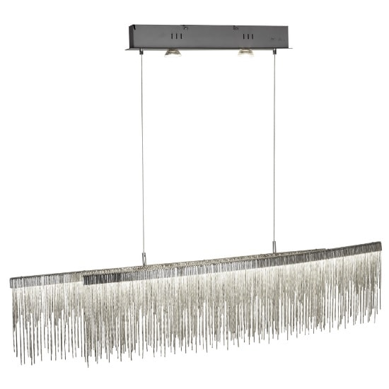 Memphis LED Ceiling Bar In Satin Silver