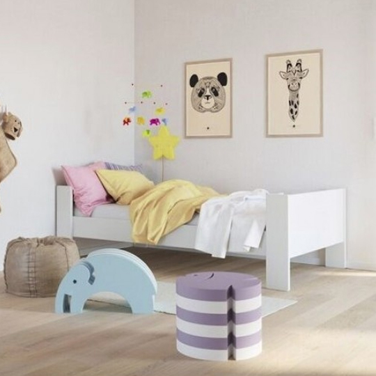 Memphis Wooden Childern Single Bed In White