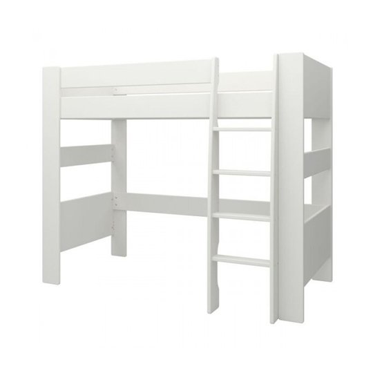 Memphis Wooden High Sleeper Childern Bed In White_2