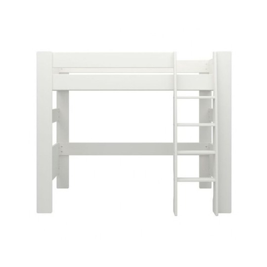 Memphis Wooden High Sleeper Childern Bed In White_3