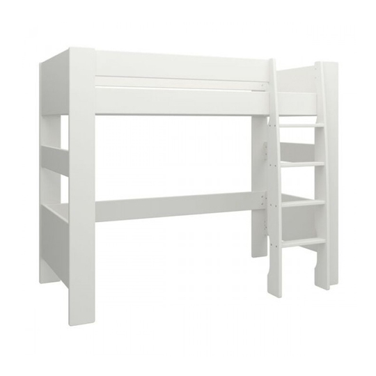 Memphis Wooden High Sleeper Childern Bed In White_4