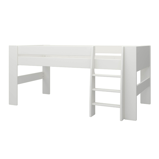 Memphis Wooden Mid Sleeper Childern Bed In White_2