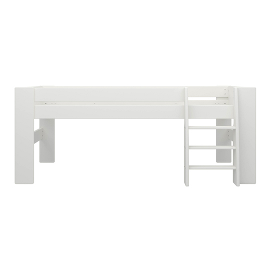 Memphis Wooden Mid Sleeper Childern Bed In White_3