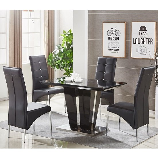 Black Dining Table Finest Dining Table Small Black Dining  : memphissmalldiningtableblackglassblackchairs from alkotshnews.com size 550 x 550 jpeg 114kB
