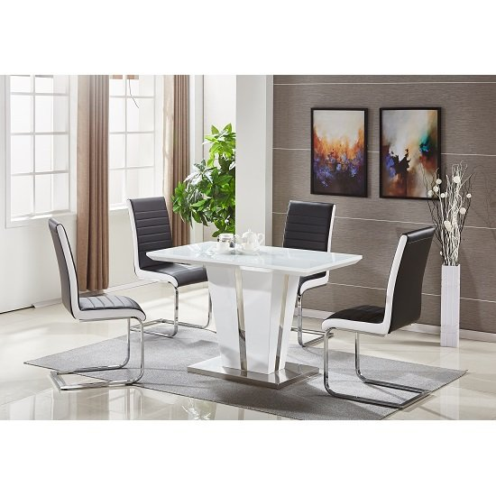 dining table sets memphis glass dining table small in white and 4