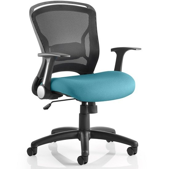 Mendes Contemporary Office Chair In Kingfisher With Castors