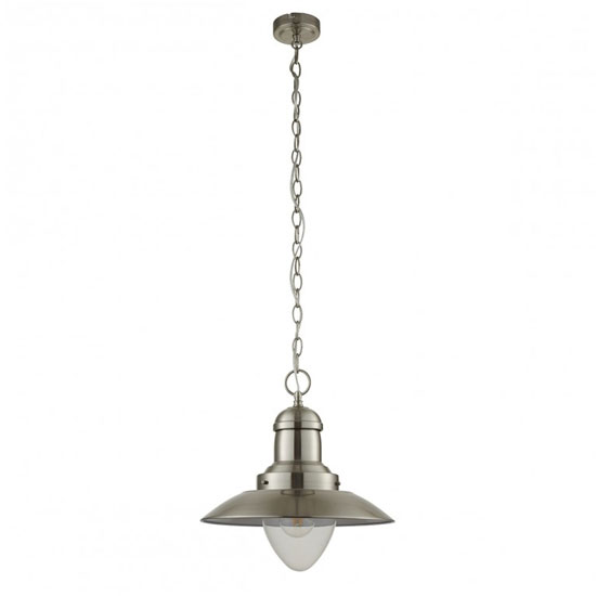 Mendip Wall Hung Pendant Light In Chrome