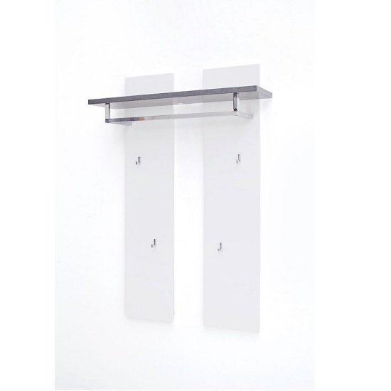 Mentis Wall Mounted Coat Rack In Matt White And Concrete_2