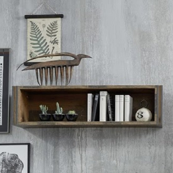 Merano Wooden Wall Mount Display Shelf In Old Wood_2