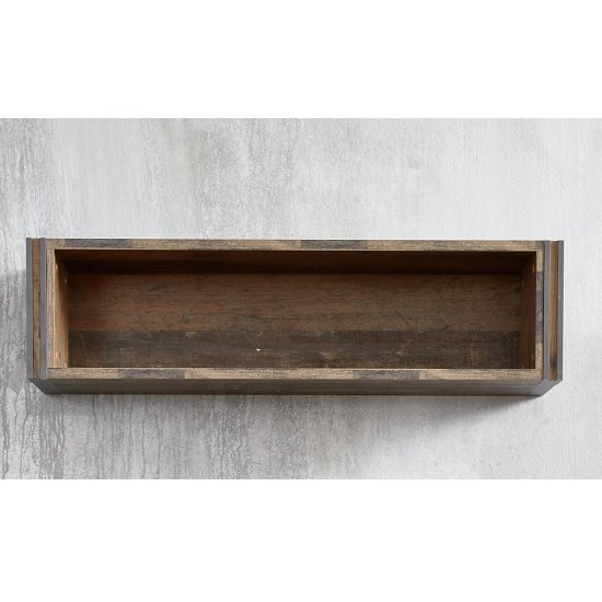 Merano Wooden Wall Mount Display Shelf In Old Wood_3