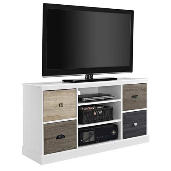 Mercer Wooden Small TV Stand In White_2