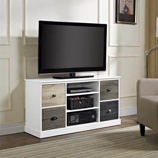 Mercer Wooden Small TV Stand In White_1