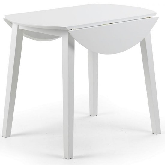 Meridian Extendable Dining Table In White_2