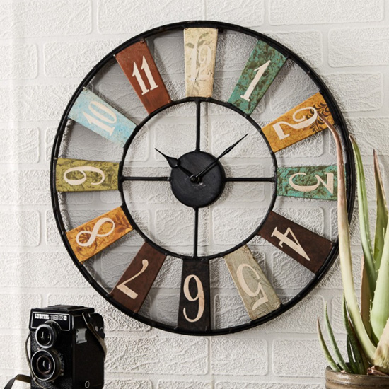 Merope Industrial Style Metal Archie Wall Clock