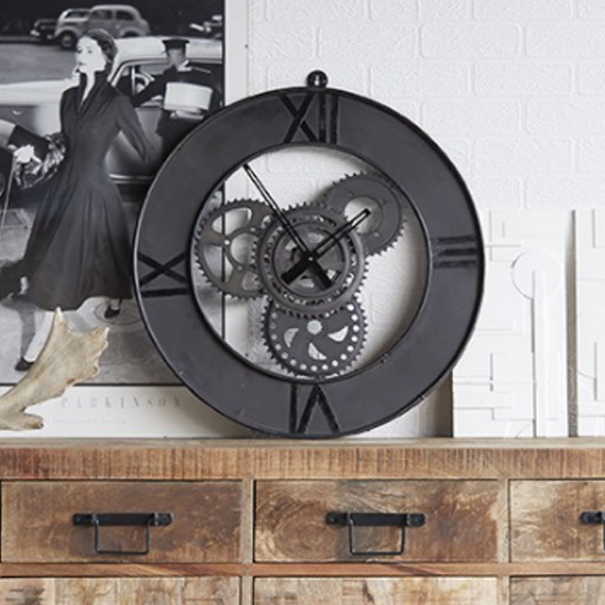 Merope Large Metal Factory Wall Clock