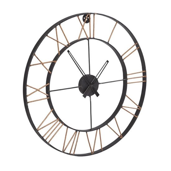 Merope Large Metal Lincoln Wall Clock
