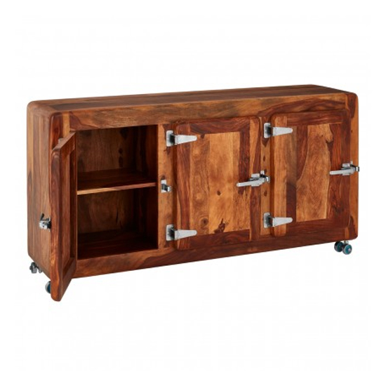 Merova Wooden 3 Doors Sideboard In Light Teak_3
