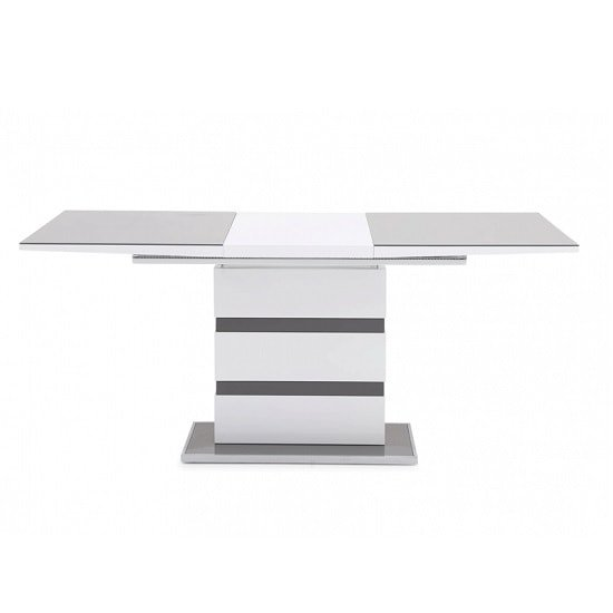 Merton Extendable Glass Dining Table With White Grey High Gloss_3