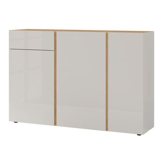 Mesa Sideboard In Navarra Oak And Cashmere High Gloss