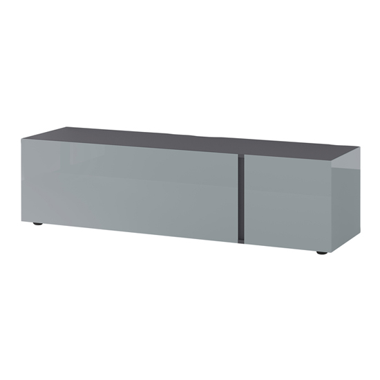 Mesa Small Lowboard TV Stand In Graphite And Silver Grey