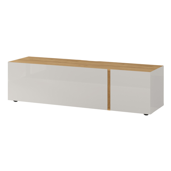 Mesa Small Lowboard TV Stand In Navarra Oak And Cashmere