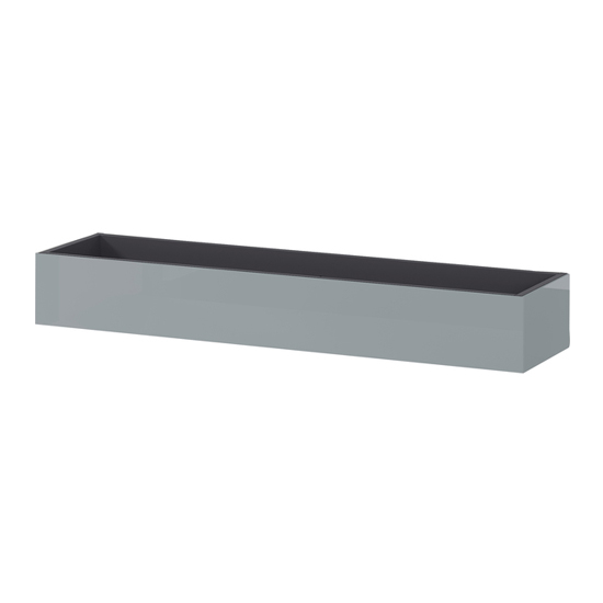 Mesa Wall Shelf In Graphite And Silver Grey High Gloss