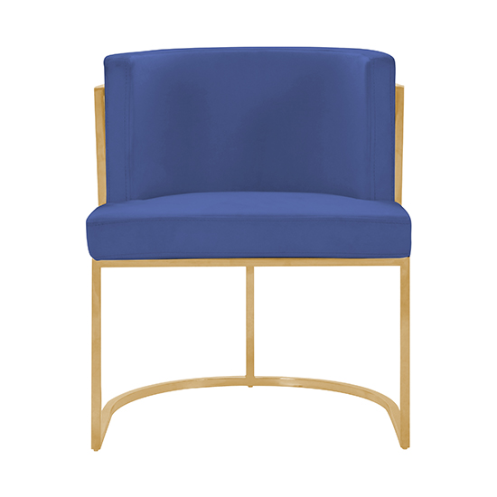 Meta Blue Velvet Dining Chairs In Pair With Gold Legs_3