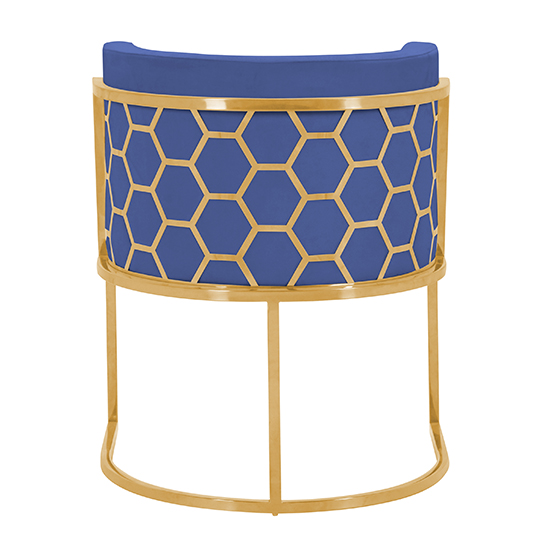 Meta Blue Velvet Dining Chairs In Pair With Gold Legs_4