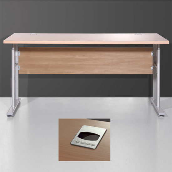 Vision Computer Table In Royal Walnut With Height Adjustable