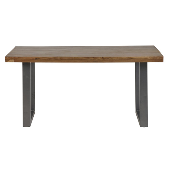 View Metapoly industrial wooden dining table in acacia