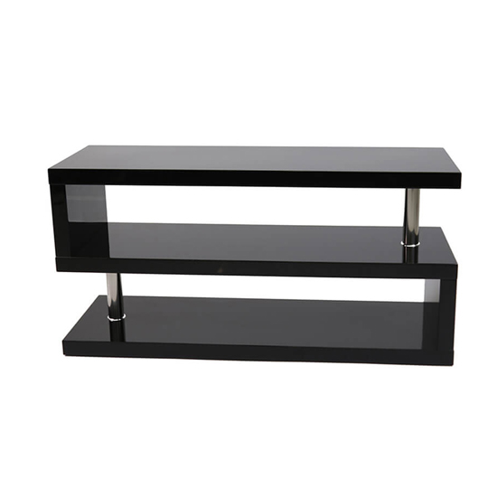 Miami TV Stand In High Gloss Black_2