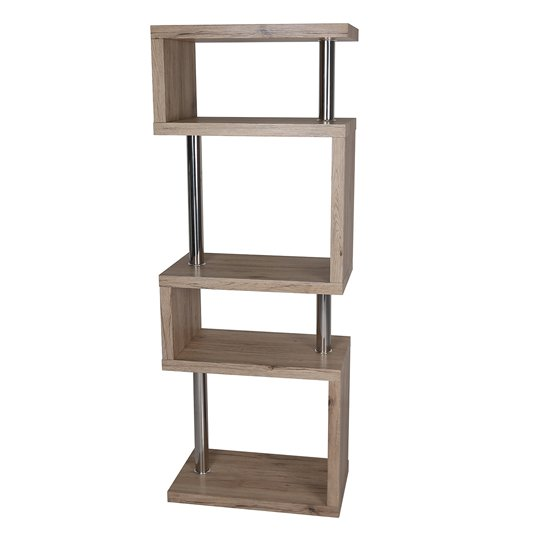 Miami Wooden Slim Shelving Unit In Ash Wood_2