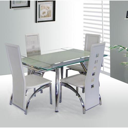 Dining table extendable dining table frosted glass Frosted glass furniture