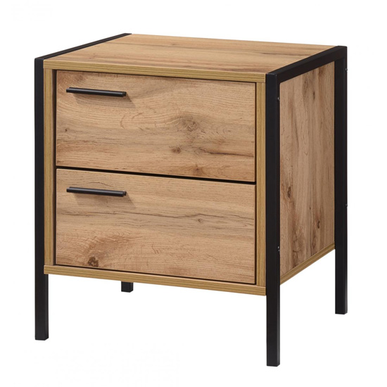 Michigan Wooden Bedside Cabinet In Oak