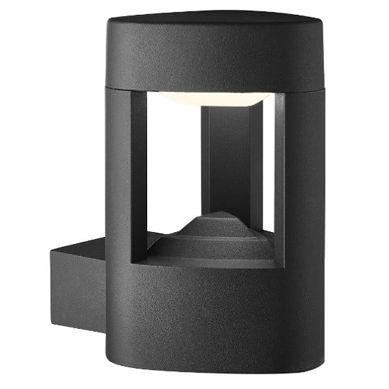 Michigan Outdoor LED Wall Light In Grey With Clear Diffuser