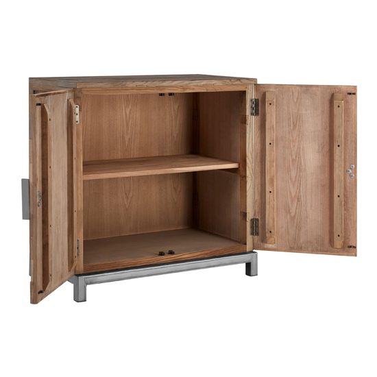 Micos Large Wooden 2 Doors Storage Cabinet In Natural Elm_4