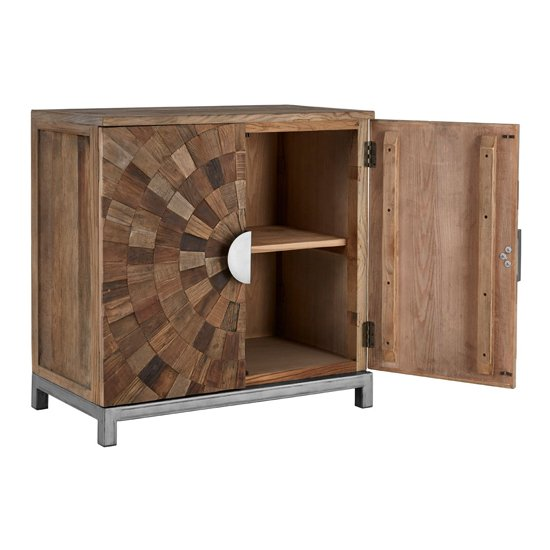 Micos Large Wooden 2 Doors Storage Cabinet In Natural Elm_5