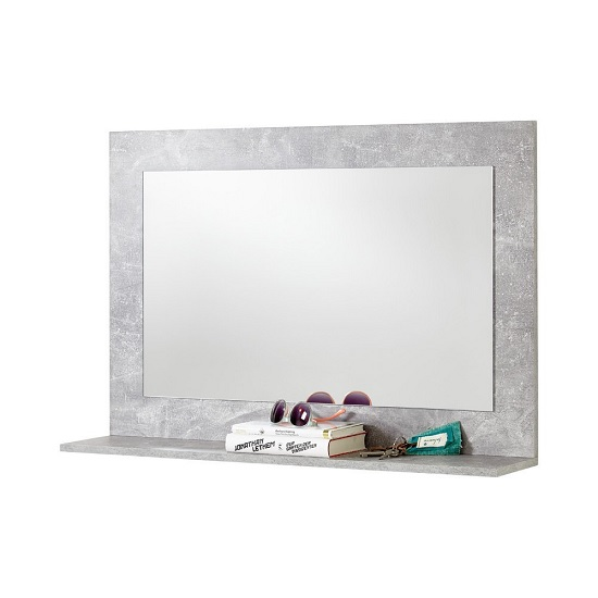 Midas Wooden Wall Mirror Rectangular In Light Atelier